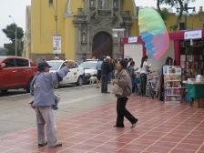 Plaza in Barranco, Lima
